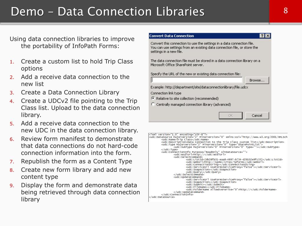 Demo – Data Connection Libraries