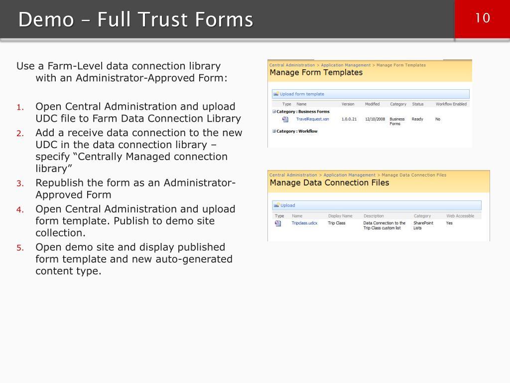 Demo – Full Trust Forms