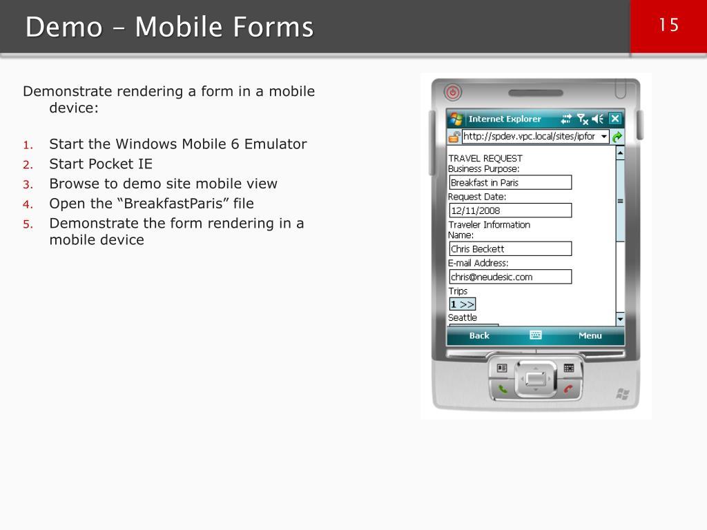 Demo – Mobile Forms