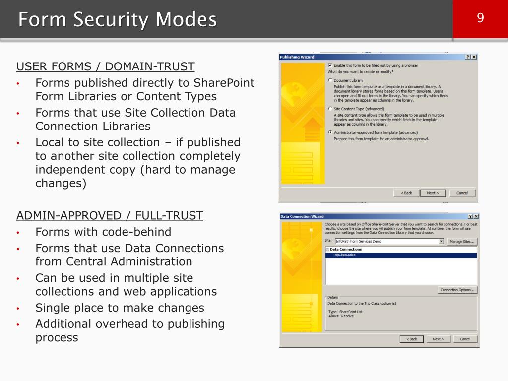 Form Security Modes