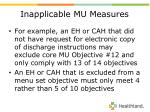 inapplicable mu measures