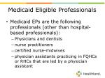 medicaid eligible professionals