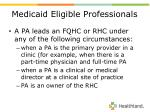 medicaid eligible professionals12