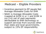 medicaid eligible providers