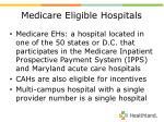 medicare eligible hospitals