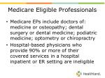 medicare eligible professionals