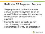 medicare ep payment process