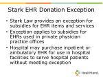 stark ehr donation exception