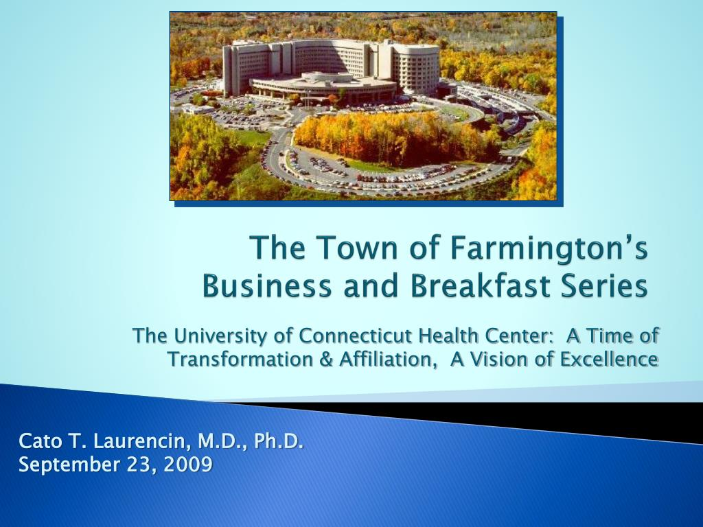 the town of farmington s business and breakfast series l.