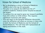 vision for school of medicine