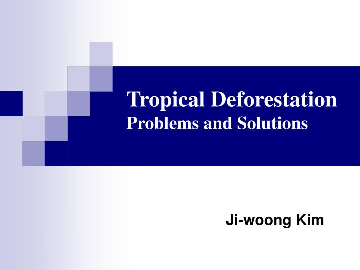 tropical deforestation problems and solutions n.
