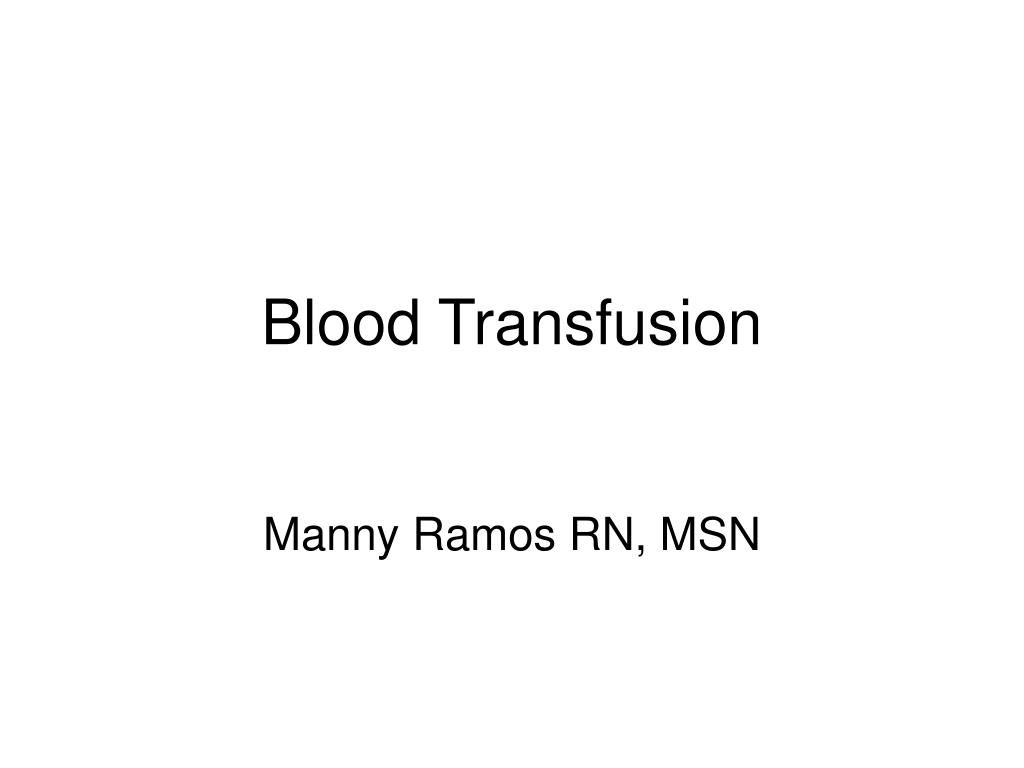 blood transfusion l.