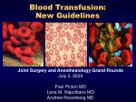 blood transfusion new guidelines