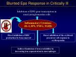 blunted epo response in critically ill
