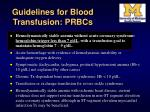 guidelines for blood transfusion prbcs34