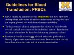 guidelines for blood transfusion prbcs35