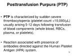 posttransfusion purpura ptp