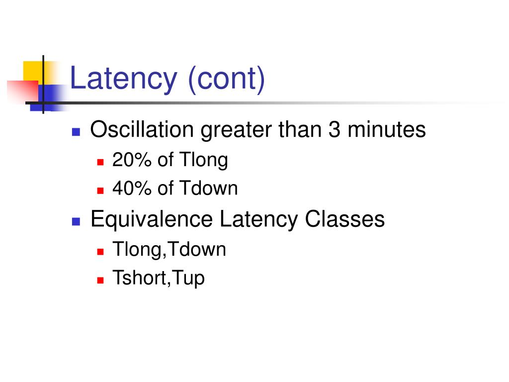 Latency (cont)