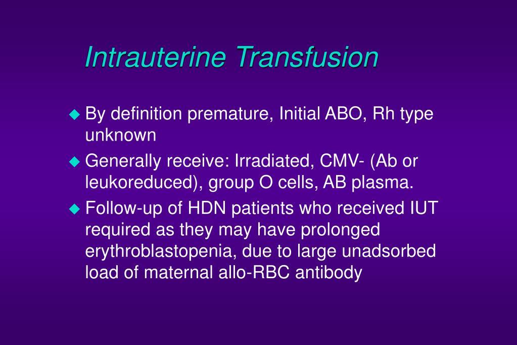 Intrauterine Transfusion