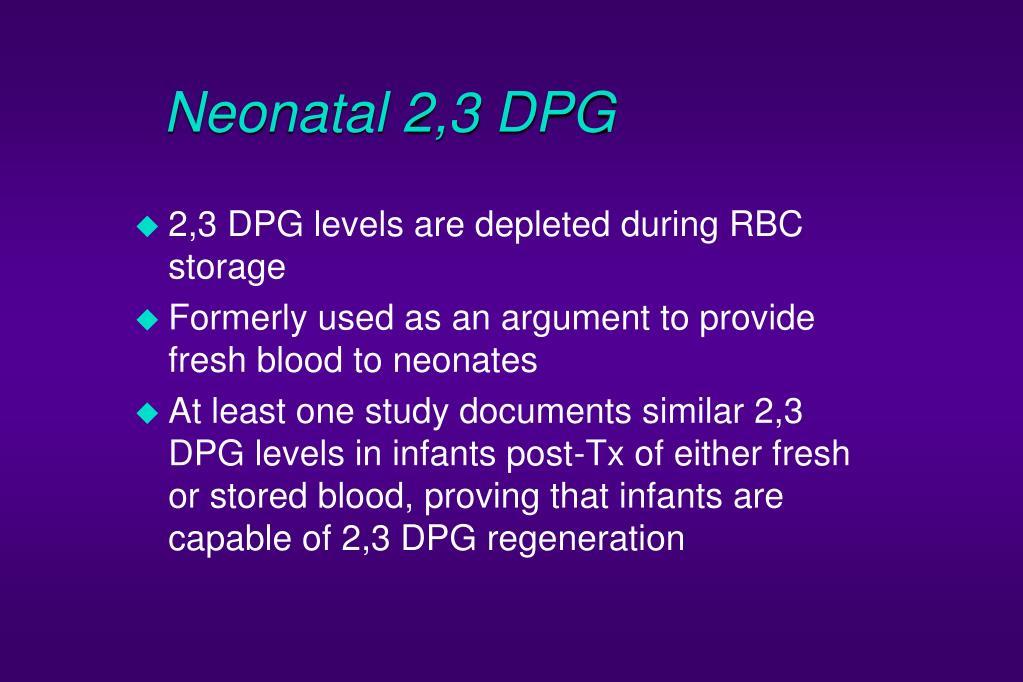 Neonatal 2,3 DPG