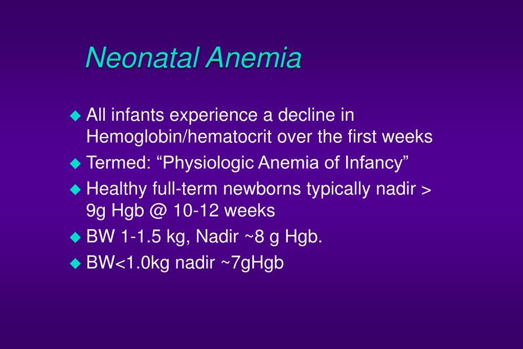 Neonatal Anemia