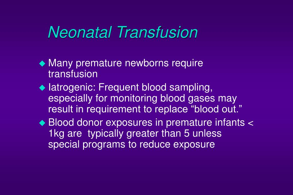 Neonatal Transfusion