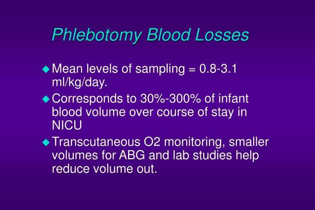 Phlebotomy Blood Losses