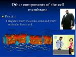other components of the cell membrane19