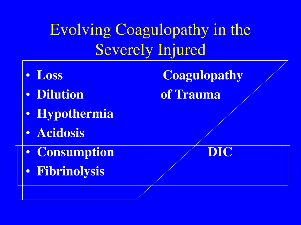 Evolving Coagulopathy in the Severely Injured