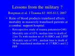 lessons from the military borgman et al j trauma 63 805 813 2007