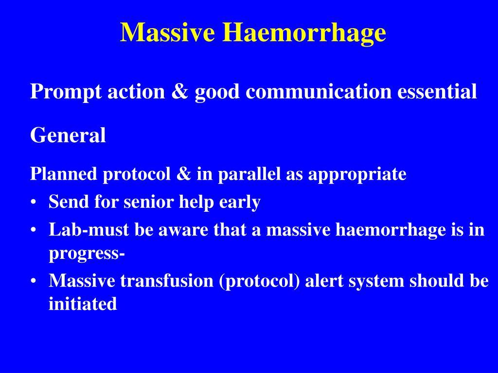 Massive Haemorrhage