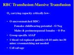 rbc transfusion massive transfusion