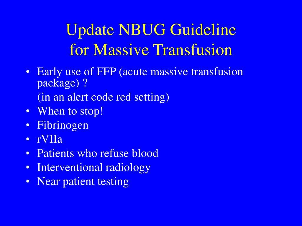 Update NBUG Guideline