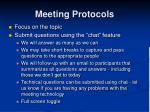 meeting protocols