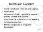 transfusion algorithm