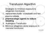 transfusion algorithm13