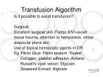 transfusion algorithm6