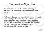 transfusion algorithm7