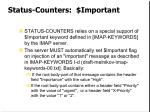 status counters important