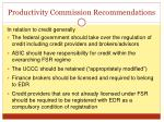 productivity commission recommendations1