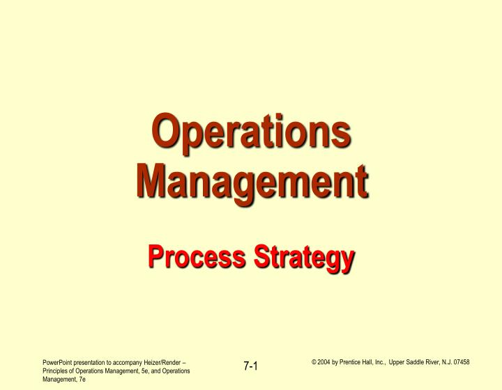 operations management process strategy n.