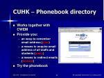 cuhk phonebook directory