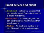 email server and client
