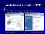web based e mail http