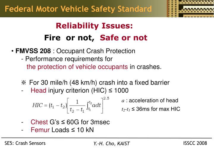 Federal Motor Vehicle Safety Standard