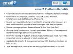 email2 platform benefits