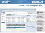 secure client billing mailbox