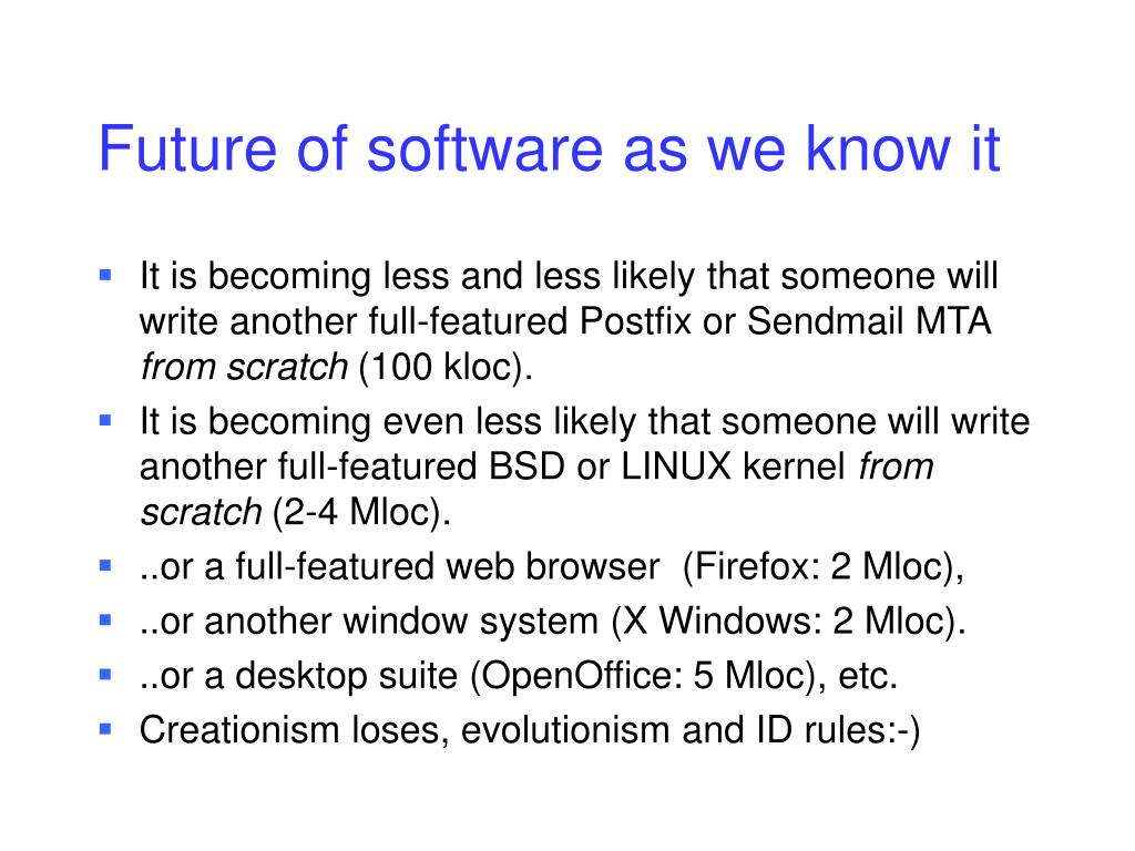 Future of software as we know it