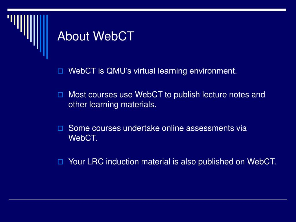 About WebCT