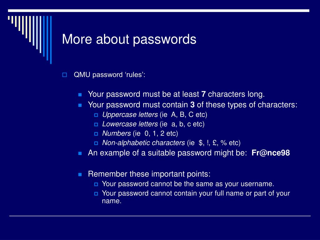 More about passwords